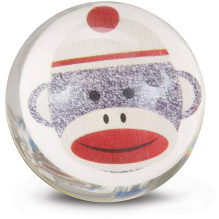 Sock Monkey Red Bounce Balls](Red Bouncy Ball)