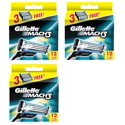 36-Count Gillette Mach3 Refill Razor Blade Cartridges