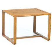 Corner Table W Sled Base Contour Black
