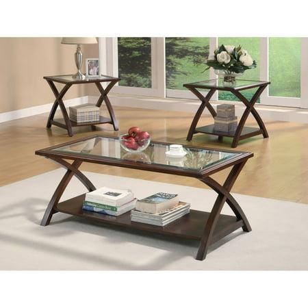 Coaster 3-Piece Table Set, Warm Light Bourbon Finish - Walmart.com