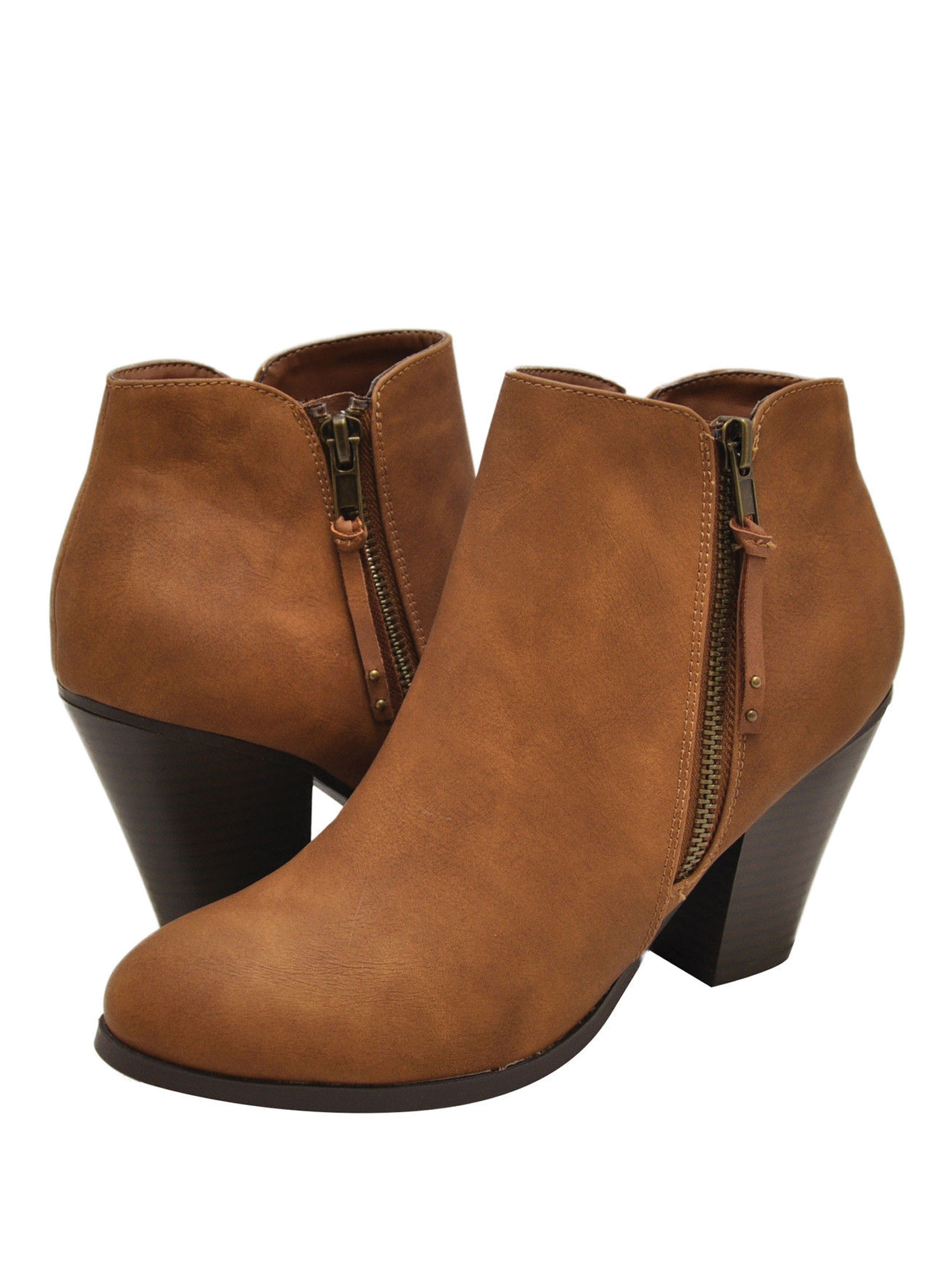 City Classified Keira-S Women's Chunky Heel Ankle Booties