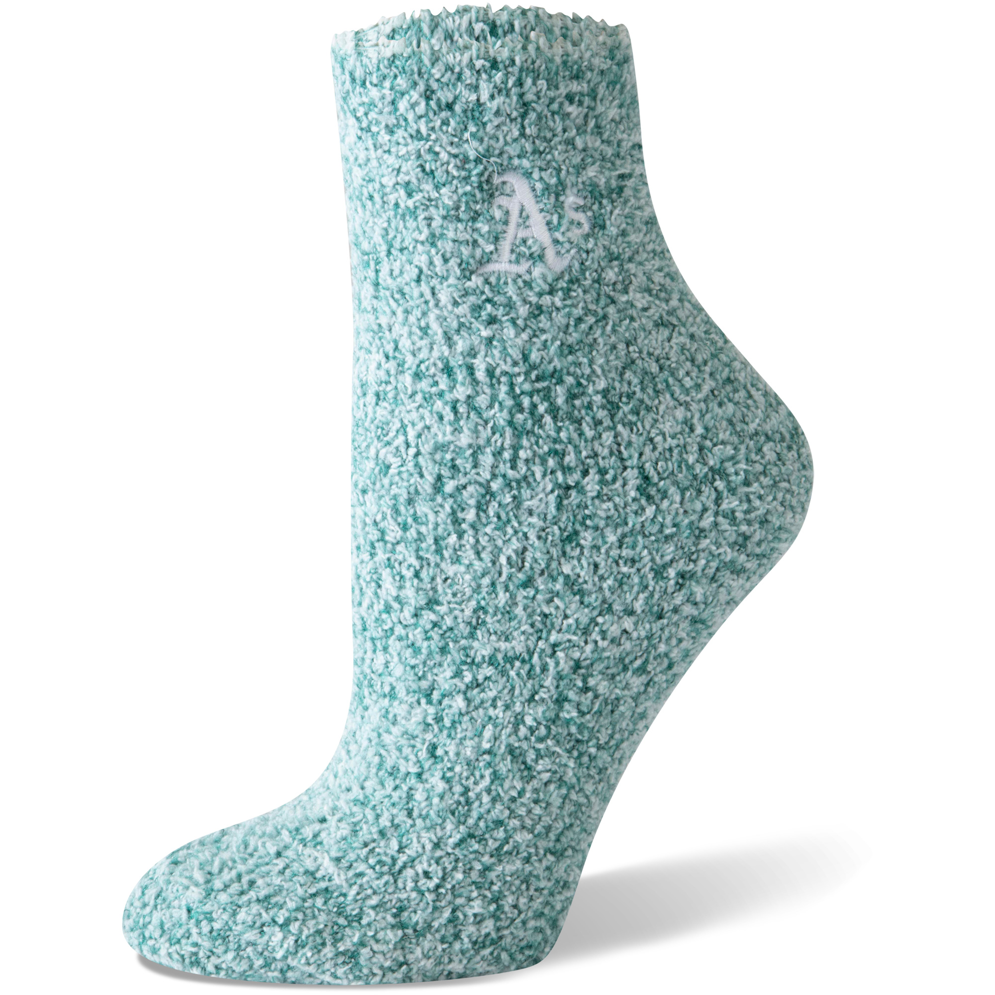 Oakland Athletics Women's Fuzzy Block Tri-Blend Socks - Green - M