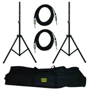 Heavy-Duty Pro Audio Speaker Stand and 1/4'' Cable Kit