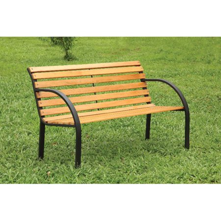 Millwood Pines Upper Vobster Patio Metal Park Bench Walmart Com