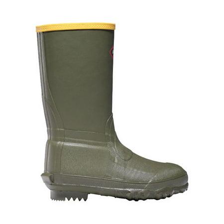 LaCrosse Lil Burly Waterproof Green Rubber Boot with Wool Felt Midsole - Size 11 ()