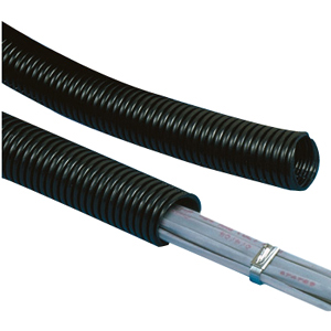 Panduit Corrugated Loom Tubing Solid - Cable flexible conduit - 100 ft - orange