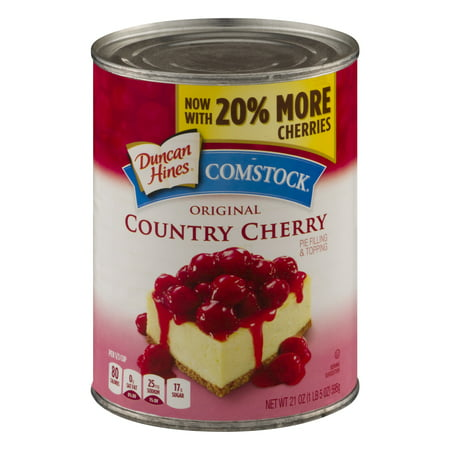 (3 Pack) Comstock Original Country Cherry Pie Filling Or Topping, 21