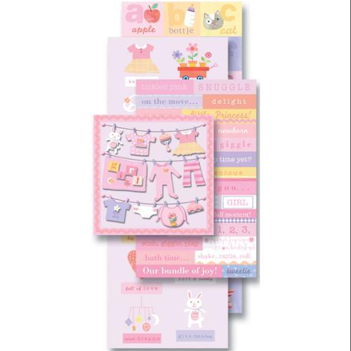 Flip Pack Sticker Embellishments-Baby Girl