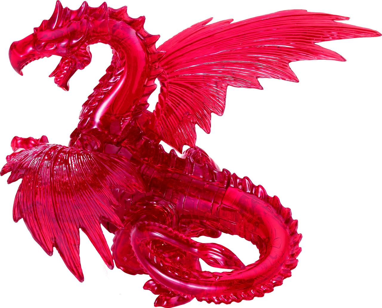 Deluxe 3D Crystal Puzzle Red Dragon by University Games