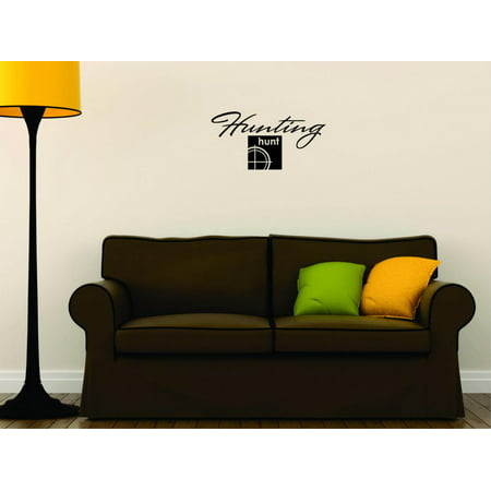 Decal Peel Stick Wall Sticker Hunting Hunt Outdoor