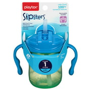 Playtex Sipsters Stage 1 Straw Trainer Sippy Cup, 6 Oz (Color May Vary)
