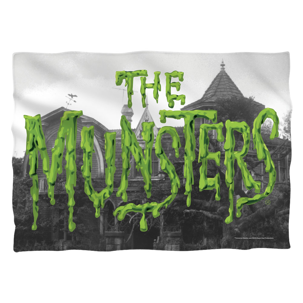 Munsters Logo (Front Back Print) Pillow Case White One Size