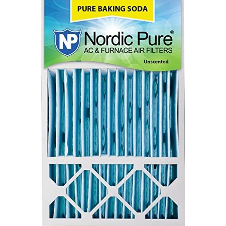 Nordic Pure 16x25x4/16x25x5 (4-3/8 Actual Depth) Pure Baking Soda Honeywell FC100A1029 Replacement Pleated AC Furnace Air Filter, 1 Pack 16