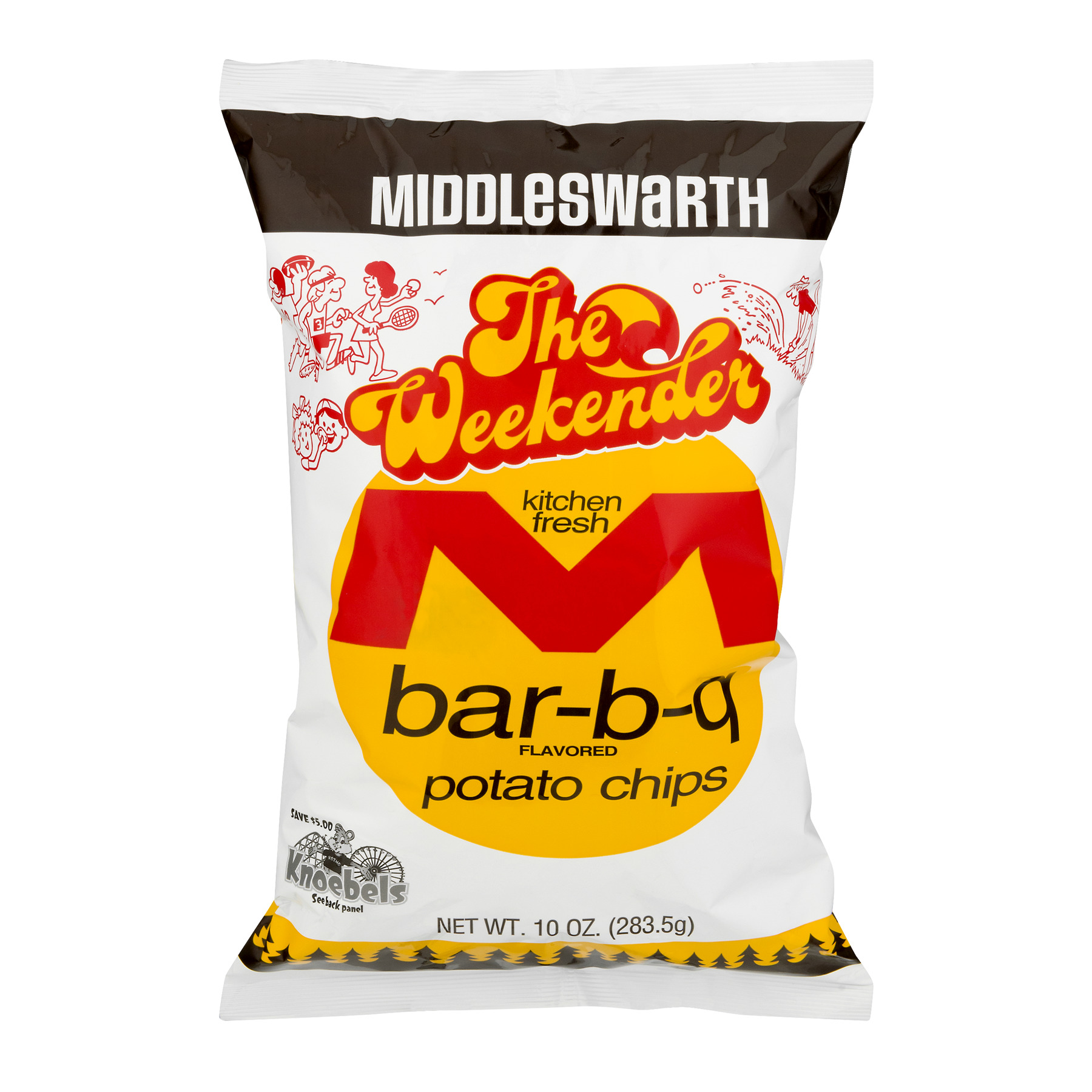 Middleswarth The Weekender Bar-B-Q Potato Chips, 10 Oz.