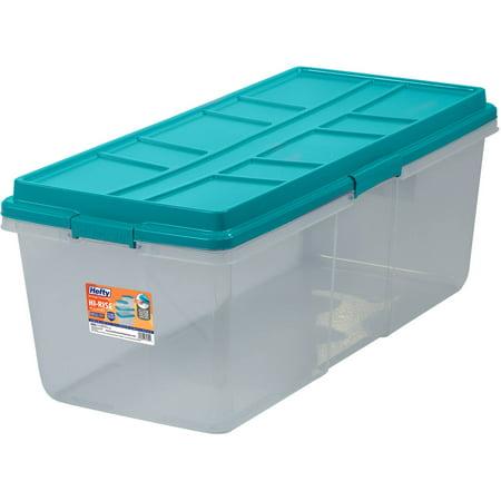 Hefty HI-RISE Storage Bins, 113 Qt. XL Stackable Bin with Latch ...