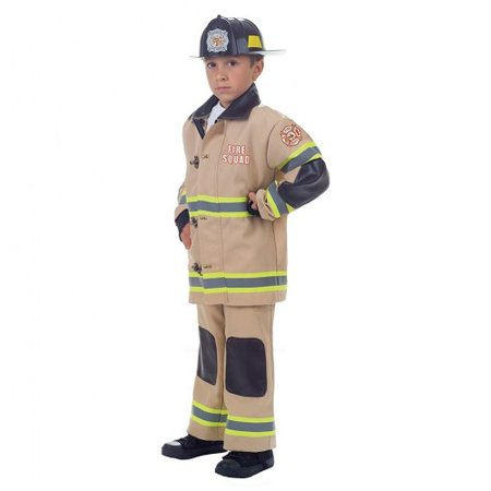 Fire Squad Firefighter Child Costume (Tan)](Women Firefighter Costume)