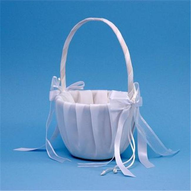 Beverly Clark A01115FB/WHT Simplicity Flower Girl Basket - White