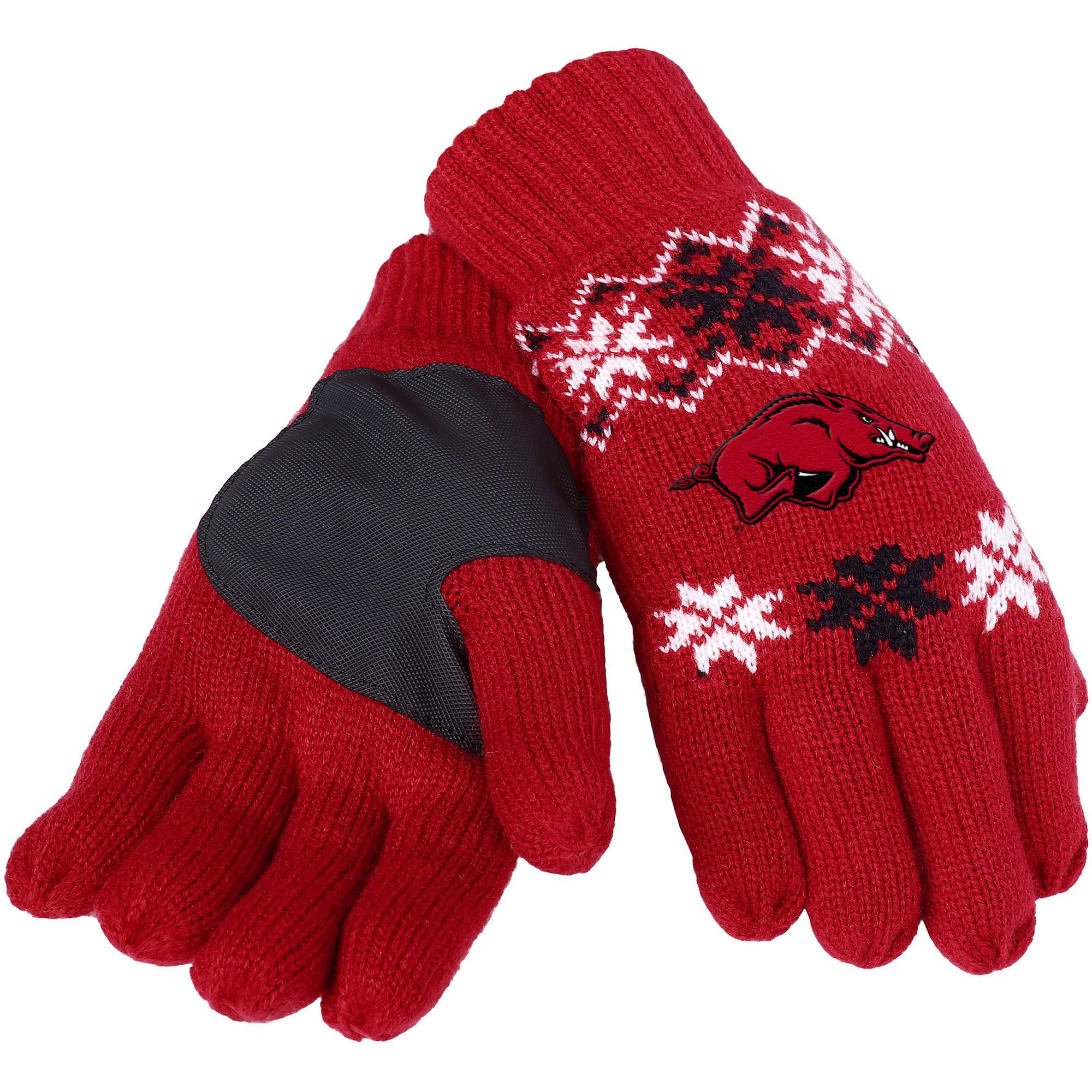 Forever Collectibles - NCAA Lodge Gloves, University of Arkansas Razorbacks