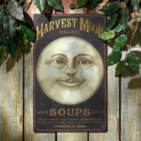 Harvest Moon Antique Look Tintype Metal Sign