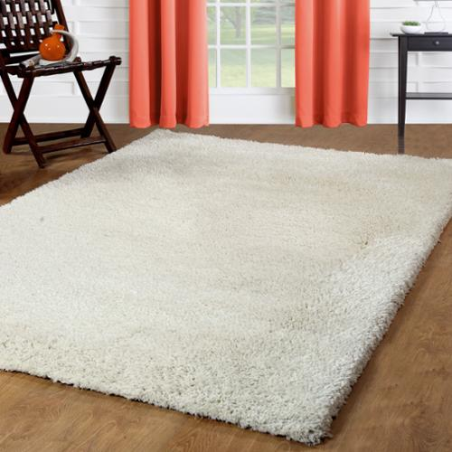 Affinity Home Collection Affinity Home Solid Polypropylene Shag Area Rug (4' x 6') - 4' x 6'