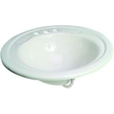 Premier Bathroom Sink Drop In Acrylic 19 In Round White
