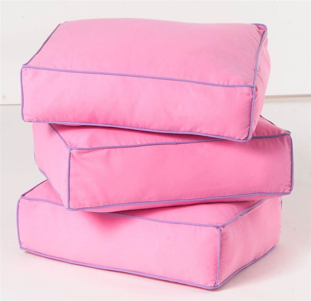 Back Pillow Cores w Removable Cover - Set of 3