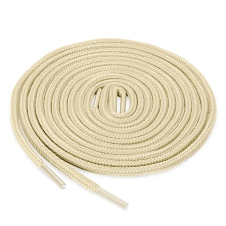 2 Pairs Round Shoelaces for Casual Sneakers Shoes Beige 70cm - image 4 of 4