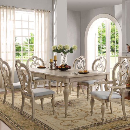 Acme Abelin Dining Table Antique White