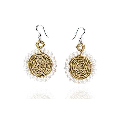 Eco Opulence Calia Cultured Pearl Drop Earrings