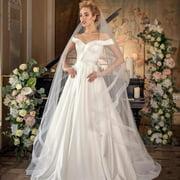 Women Off Shoulder Strapless Elegant Wedding Dress Without Headgear