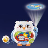 VTech Twinkle and Soothe Owl Projector, Musical Crib Toy for Baby