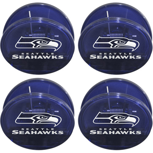 NFL Seattle Seahawks Magnetic Chip Clip Set, 4pk