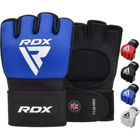 RDX MMA Fight Gloves for Grappling and Martial Arts, Open Palm Maya Hide Leather Sparring Mitts, Good for Cage Fighting, Kickboxing, Punching Bag, Muay Thai Training and Combat Sports