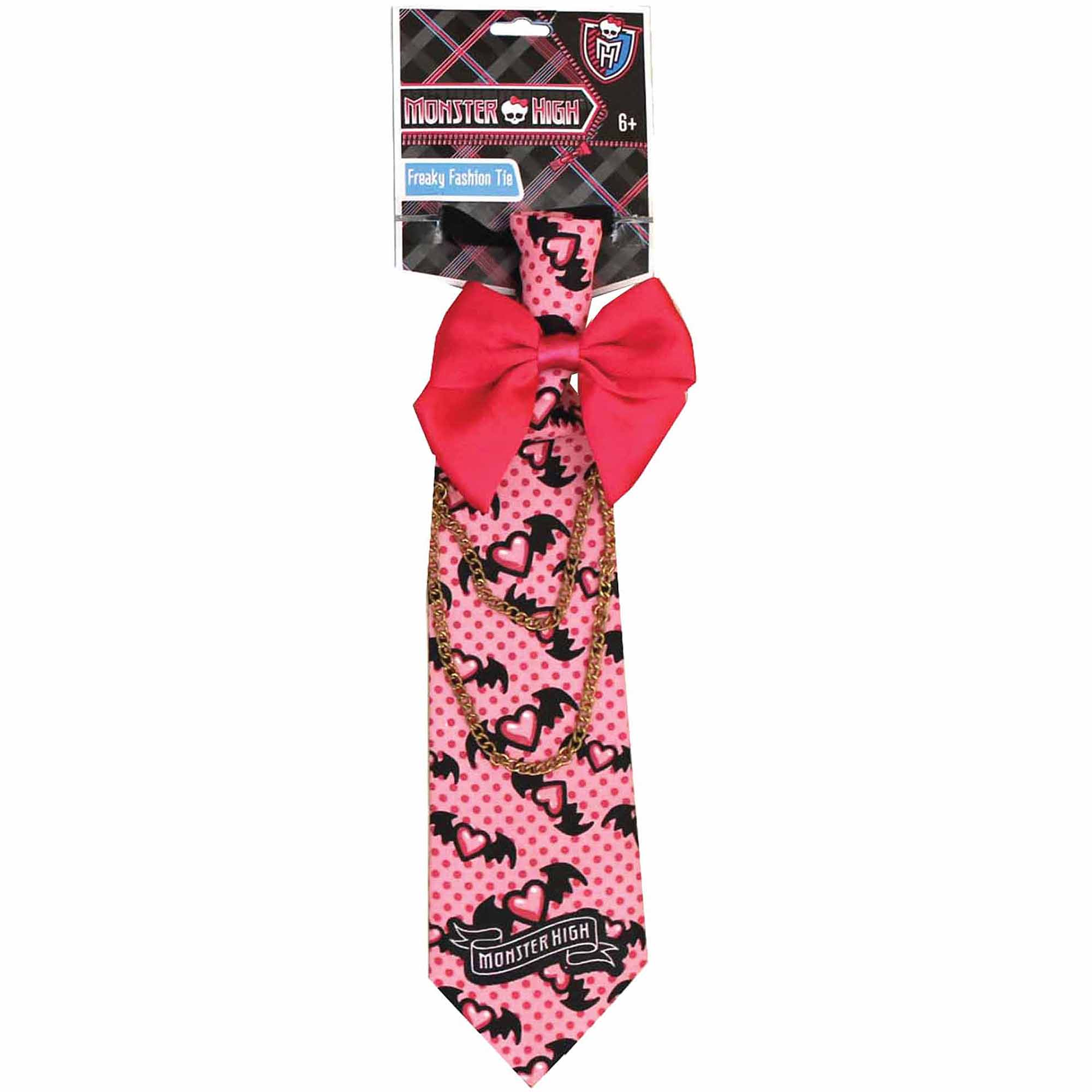 Pink and Red Monster High Freaky Fashion Tie Child Halloween Costume