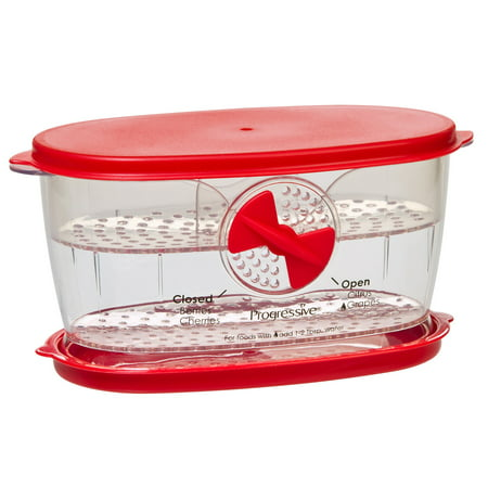Prepworks Berry Keeper, Clear and Red