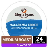 Gloria Jeans Coffee Macadamia Cookie Flavored K-Cup Pods, Light Roast, 24 Count for Keurig Brewers