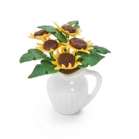 Timeless Minis Handmade Sunflower Centerpiece 1 25 X 1 75 Inches Walmart Com Walmart Com