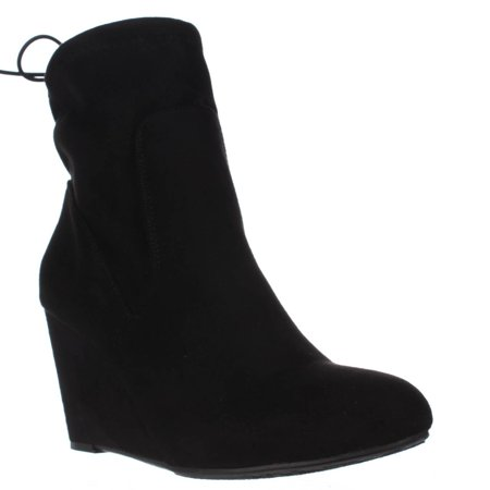 Chinese Laundry - Womens Chinese Laundry Unnie Slouch Wedge Booties - Black  - Walmart.com 55735b211