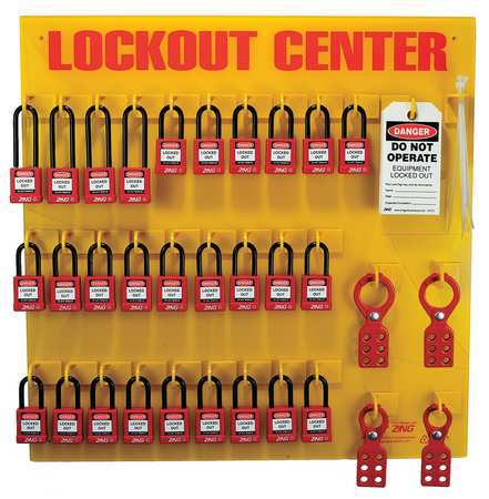 ZING 7116 Lockout Station, Filled, 28 Padlocks