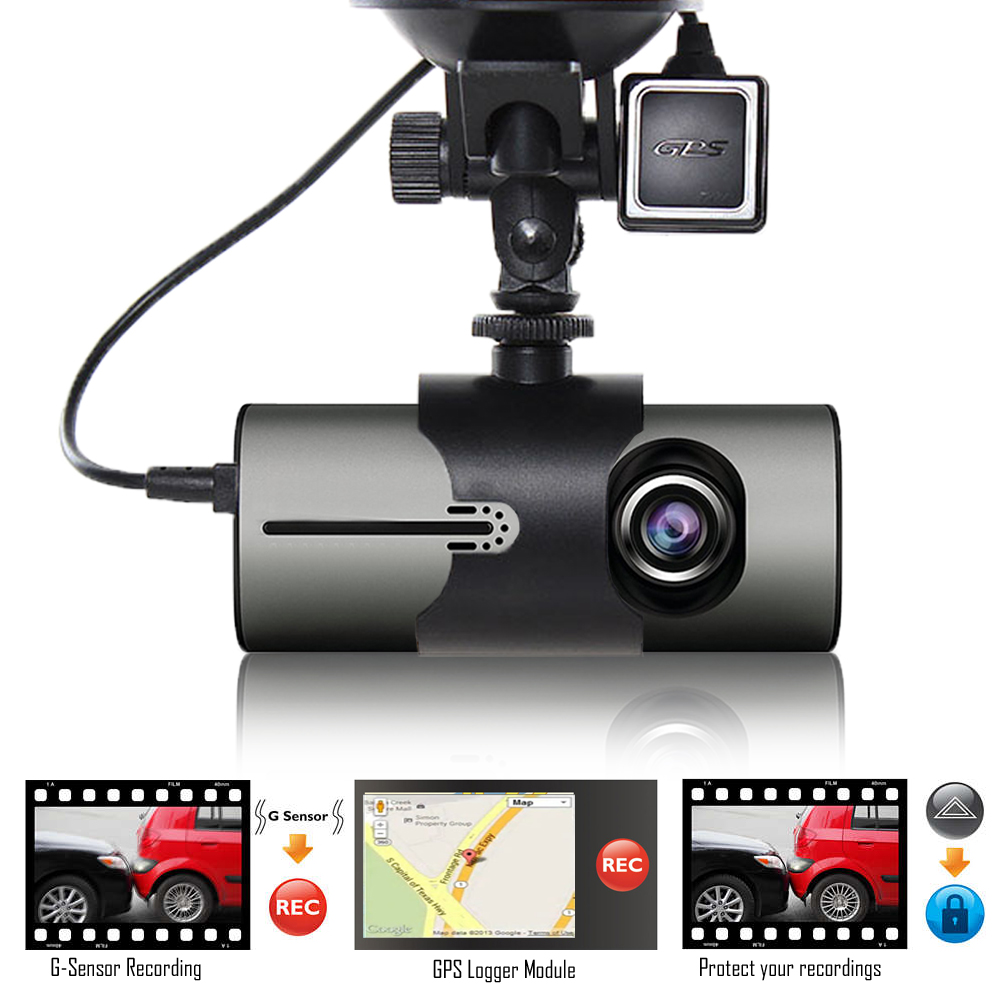 "Indigi XR300 Dash Cam  2.7"" LCD DVR + GPS Module & Google Maps on Review +"
