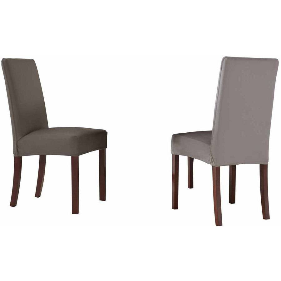 Serta Reversible Microsuede Stretch Fit Slipcover, Dining/Parsons Chair  1 Piece, Short