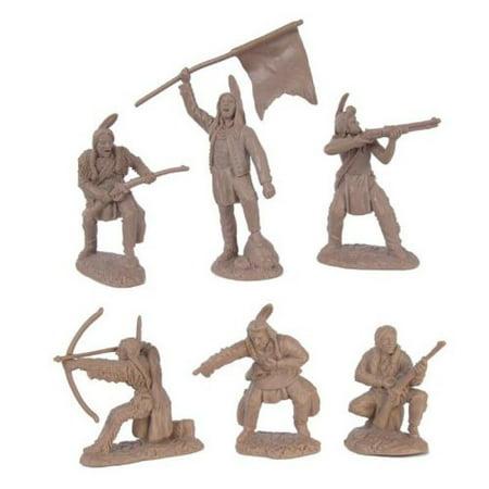 Plains Indian Warriors Plastic Army Men: 12 piece set of 54mm Figures - 1:32 scale 12 Piece Indian Bangle Set