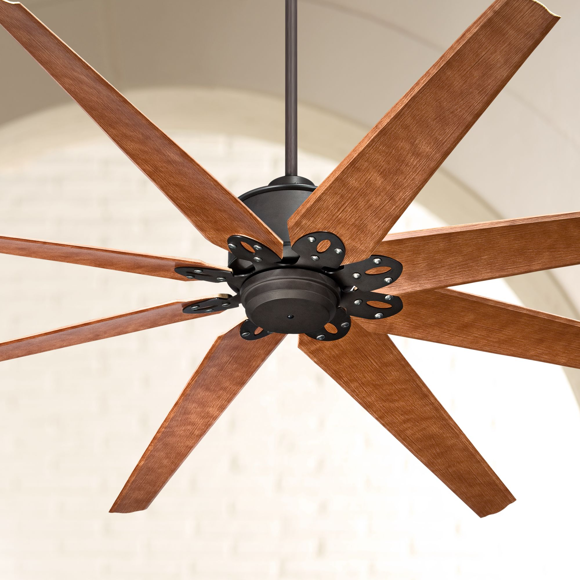 """72"""" Casa Vieja Outdoor Ceiling Fan with Remote Control Large English Bronze Cherry Damp Rated for Patio Porch"""
