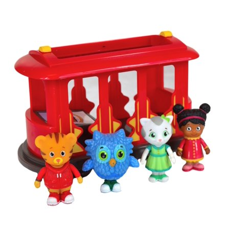 Daniel Tigers Neighborhood Trolley And Figures Set