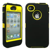 Three Layer Silicone PC Heavy Duty Rugged Protective Case Cover for iPhone 4 4G 4S