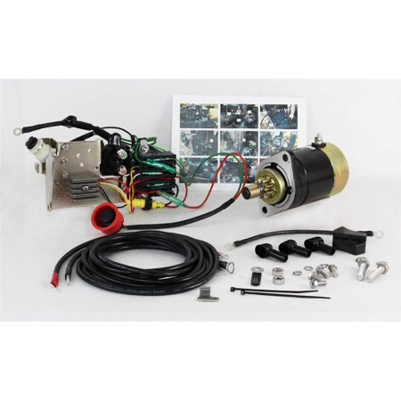 NEW ELECTRIC STARTER CONVERSION KIT FITS NISSAN TOHATSU 30HP ENGINES 346-76010-0 S108-98 MOT5011N S108-98N -