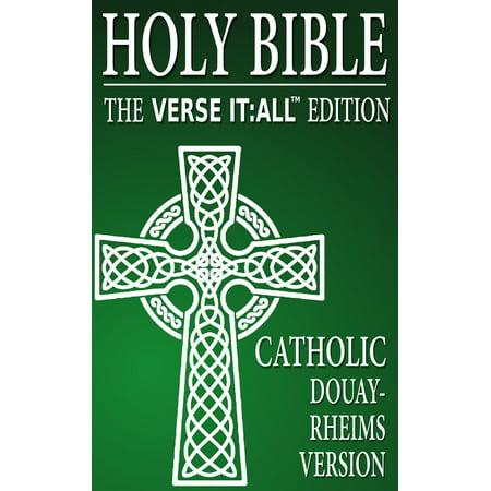 CATHOLIC BIBLE: DOUAY RHEIMS VERSION, Verse It:All Edition - (Douay Rheims Bible)