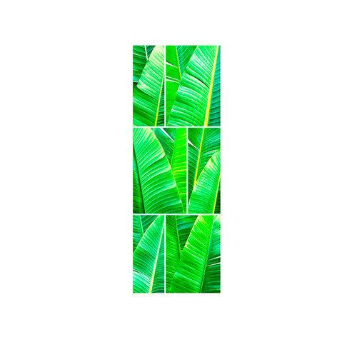 LMT Tile Murals Tropical Greens Shower Tile Mural in Multi-Colored