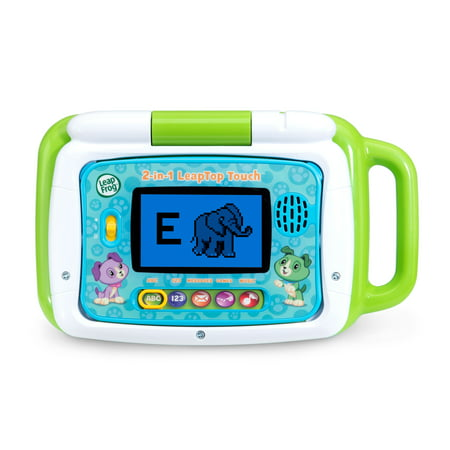 LeapFrog 2-in-1 LeapTop Touch - Green (Best Leappad Games For 3 Year Old)