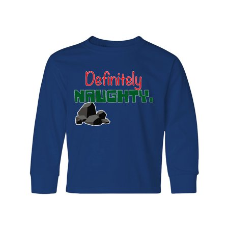 Definitely Naughty Graphic Youth Long Sleeve T-Shirt